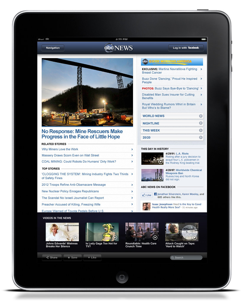 html5 ipad app