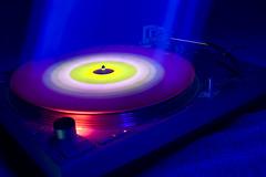Music is Life (4) (stateofdreams) Tags: longexposure nightphotography pink blue light red party music black records art colors yellow night project dark lights dance colorful exposure dj glow colours spin vinyl peach experiment class turntable blacklight recordplayer turntables techno rave electronica colourful glowstick trippy effect deejay trance spaceage lustrous