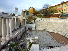 The Roman theatre in Plovdiv (Frans.Sellies) Tags: bulgaria plovdiv bulgarie romantheatre bulgarije bulgarien bulharsko bulgaristan          p1280514