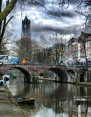 Dom Tower of Utrecht and Oudegracht