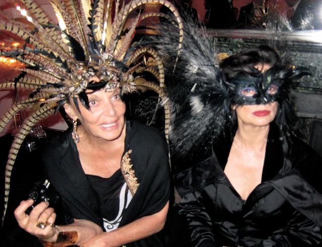 Diane Von Furstenberg & Michele Lamy - masquerade