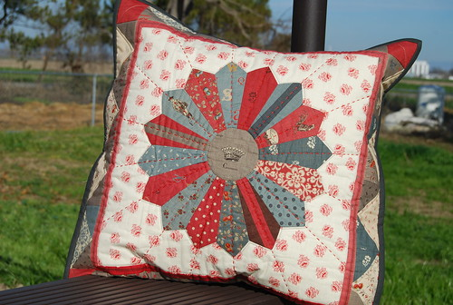 Beautiful doll quilt/pillow from Krista