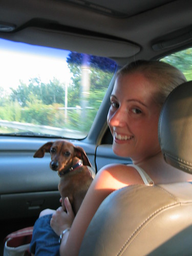 Gabby in car