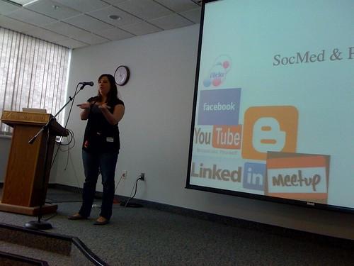 @WriterJax talks social media for PR
