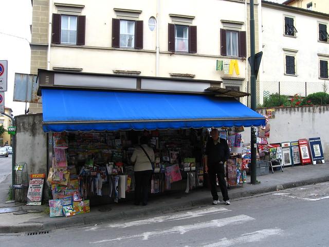 フィレンツェのお店のフリー写真素材