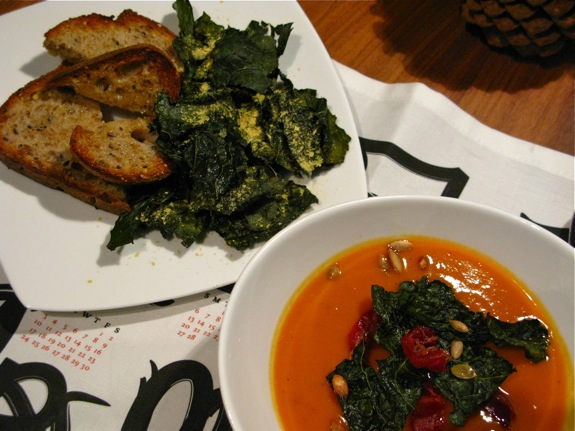 butternut squash soup kale 002