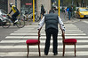 (Donato Buccella / sibemolle) Tags: street italy colors bike bicycle chairs milano sedie redandyellow crossingroad piazzanapoli mg4273 giambellino viatolstoi sibemolle
