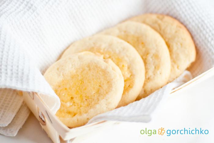 Песочное печенье с лимонным курдом
