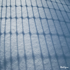 Winter abstract - Abstrait d'hiver (monteregina) Tags: schnee winter light sunlight snow canada abstract nature lines silhouette fence shadows patterns hiver natur shapes textures qubec designs neige abstraction zaun schatten lignes ombres abstrait clture monteregina