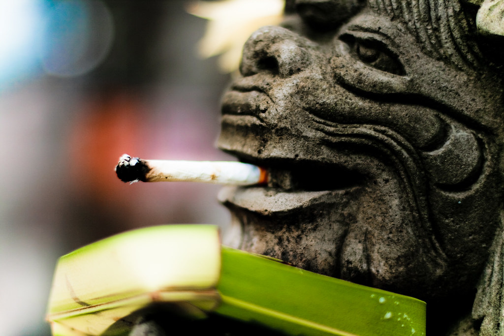 Smoking ;)