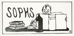 Cartoon for Sophmore Class Page, Butte High School