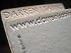 Letterpress Business Card - Darren Sabino
