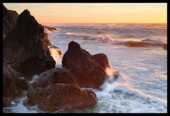 Sunset on the Rocks... (Andrew Kumler) Tags: sunset oregoncoast sealrock andrewkumler