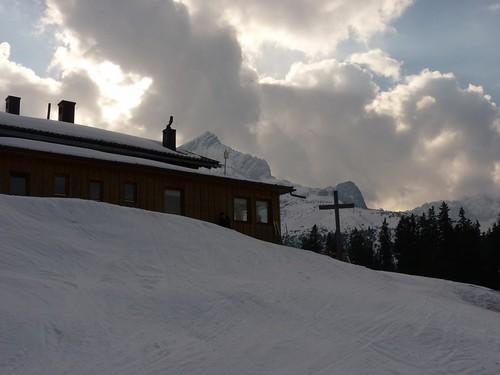 Kreuzalm und Alpspitze - Ski-WM, Tag 7, oben zum Skifahren