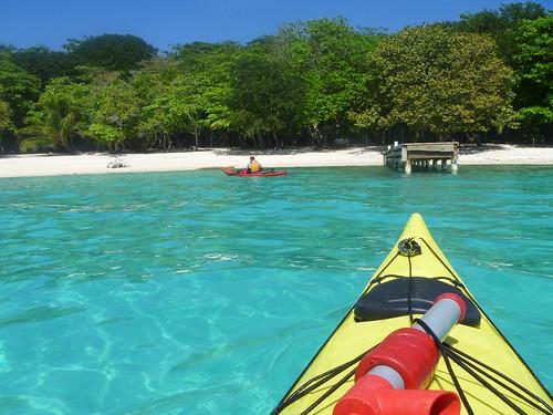 Sea kayaking in Utila with www.KayakUtila.com