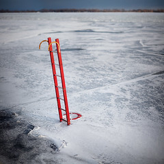 In the Ice (Mute*) Tags: winter lake snow toronto ontario cold ice frozen ring ladder emergency lifesaver canonef85mmf18usm dofmontage