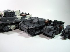 WWII Wehrmacht Vehicles - Overkill! (PhiMa') Tags: tank lego jeep wwii ww2 axis worldwar2 wehrmacht easternfront