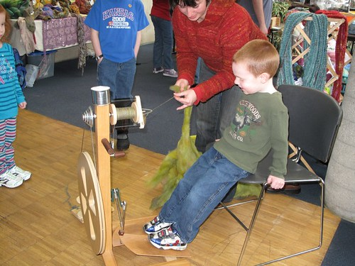 Kansas Day spinning demos