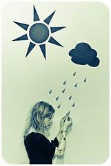 soleil noir & petite agite (  Pounkie  ) Tags: blue portrait bw cloud selfportrait me rain tattoo sepia ink self autoportrait grain pluie moi bleu nuage tatouage  pounkie lesoleilnoirlapetiteagite bruriernoirsoleilnoir dcorenfantin