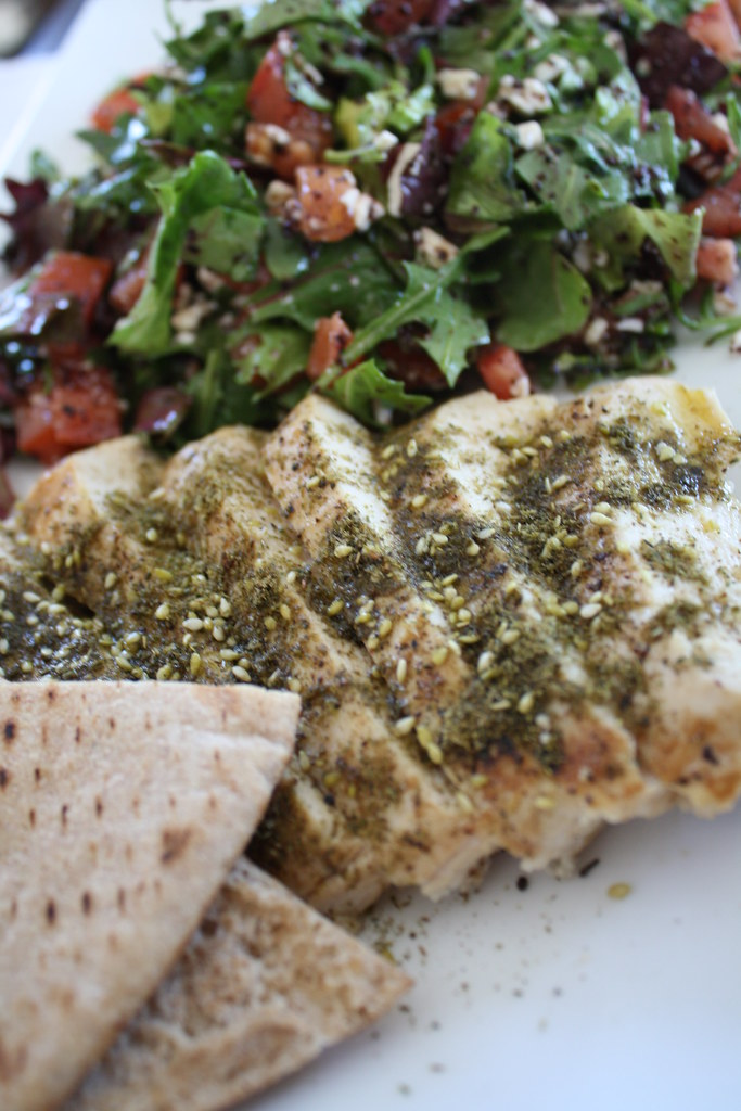 Grilled Chicken with Zahtar and Sumac Salad