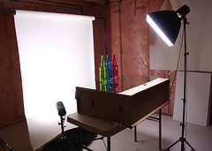Setup for my shots (Karen_Chappell) Tags: studio photography background flash backdrop setup softbox flashes