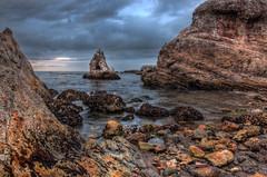 Rocky Shore HDR (Bjrn Burton) Tags: ocean california sea beach birds landscape coast nikon rocks wildlife pacificocean shore centralcoast pismobeach hdr shellbeach d90 nikon18105mm3545vr