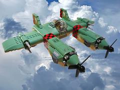 D-61 Gryphon (JonHall18) Tags: plane fighter lego aircraft fantasy scifi moc skyfi dieselpunk dieselpulp