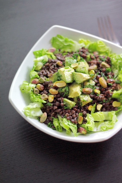 Avocado, Lentils and Pistachios