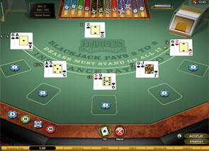 Multi-Hand European Blackjack Gold game