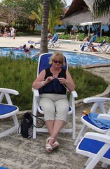Knitting by the Pool (Hear and Their) Tags: hotel cuba atlantico guardalavaca