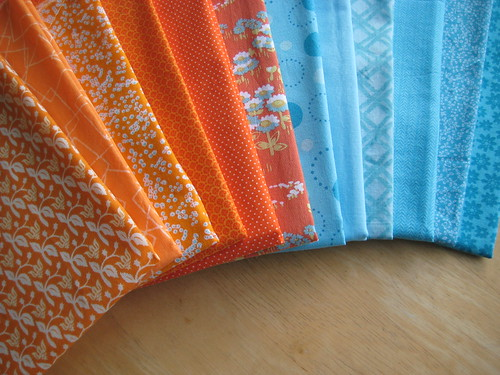 an orange + turquoise quilt