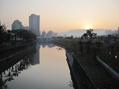 Sunset Over Love River (Viewed From Ziyou Bridge)