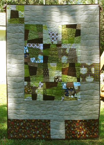 January quilt {back}
