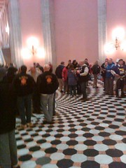 Half filled rotunda. Should be packed.