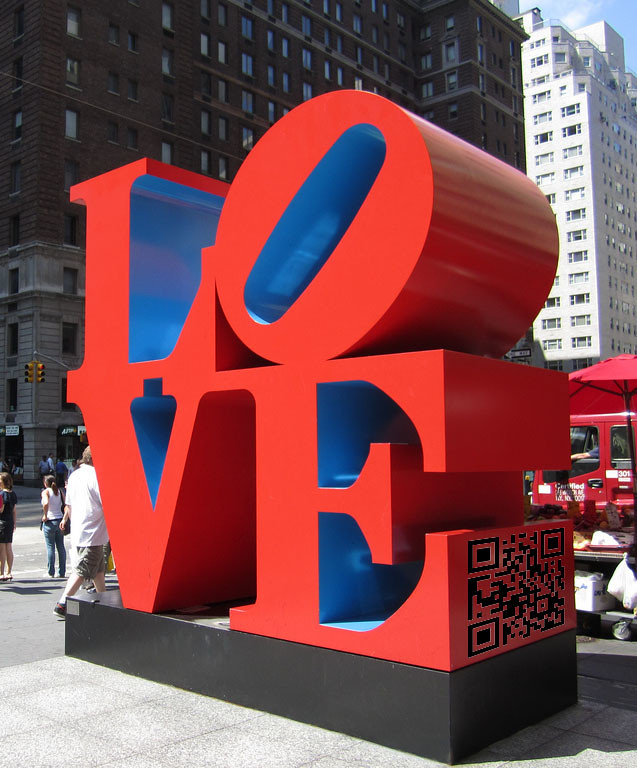 QR Code on Love Art