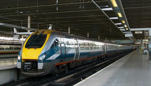 Train on the Midland Main Line at London St Pancras