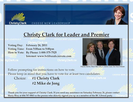 Christy Clark for Leader and Premier