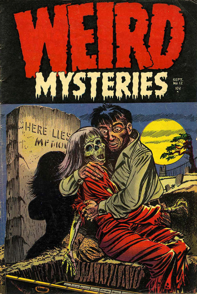 Weird Mysteries #12 Bernard Bailey Cover (Gillmor, 1954)