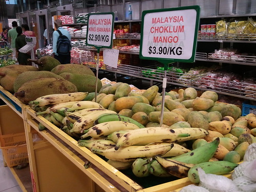 Malaysian King Bananas, Choklum Mangoes, and Jackfruit