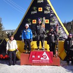 Red Mountain GMC Cup Women's GS Podium 1. Sarah Elliot, Oyama, B.C., 1 :51.53; 2. Vanessa Berther, U.S., 1 :52.30; 3. Tess Davies, Canmore, Alta., 1:52.38; 4. Yina Moe-Lange, Denmark, 1:53.46; 5. Jocelyn Ramsden, Whistler, B.C., 1:53.62;