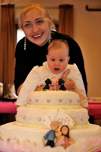Viola's baptism cake topper
