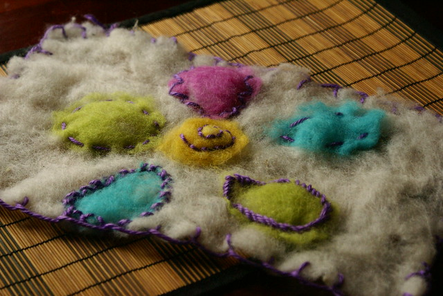 Embelished homemade felt