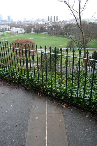 The meridian line outside the paid area