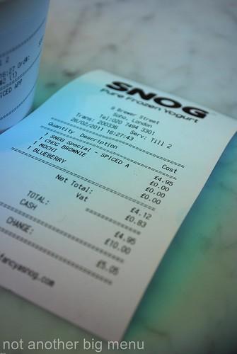 Snog receipt