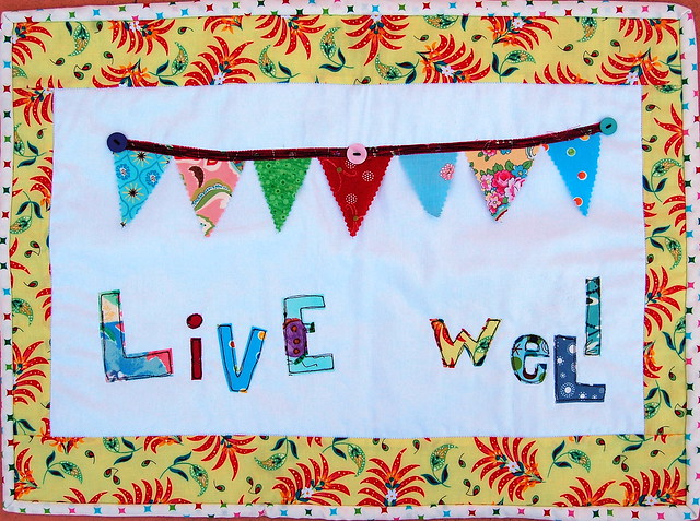 live well wall hanging