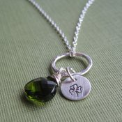"""""""Luck"""" Hand Stamped Necklace"""