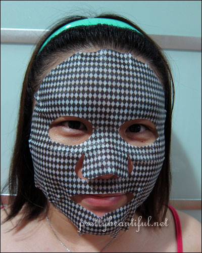 Beauty Buffet Charcoal Mask on face