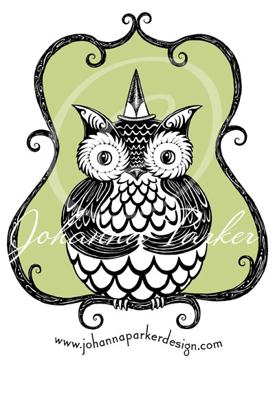 Owl-on-green