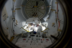 It's a good day for spacewalking (astro_paolo) Tags: nasa discovery iss esa 133 spacewalk internationalspacestation europeanspaceagency expedition26 sts133 alvindrew