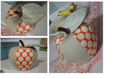 Apple Pincushion - Item # 2 SUTK (creationsbyrachel) Tags: red apple lotus handmade linen sewing dot swap pincushion stitched homedecor polkadot sewn amybutler dottedline cosmocricket sutk